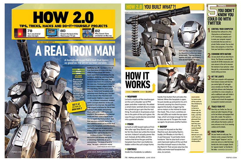 Iron Man Images in Popular Science Magazine