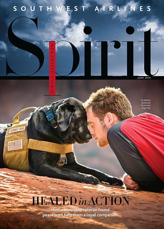 Photographing a Wounded Marine for Spirit Magazine