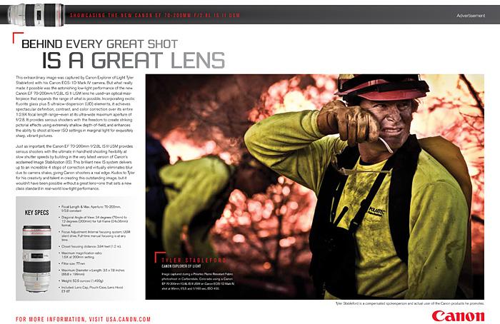 Polartec Fire Image In The New Canon Ad