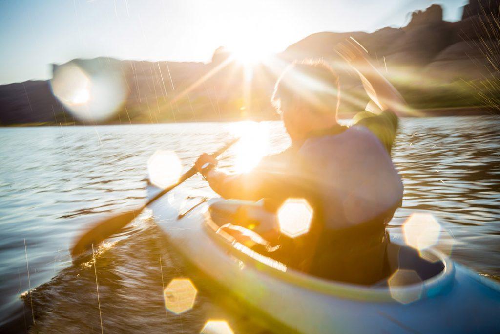 Kayaker Touring On The Colorado River Kayaking Lifestyle Image