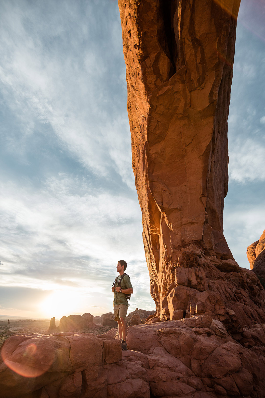 Exploring Sandstone Cliffs Around Moab Utah For Smartwool Lifestyle Campaign.