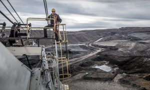 In Colorado, an Open Pit Coal Mine is the Backdrop for this Workwear Photo Ad Campaign. A Professional Photographer Captures the Grit and Hard Work Necessary.