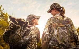 Hunting is a Generational Activity. This Mother and Daughter Team Successfully Shot a Large Turkey.