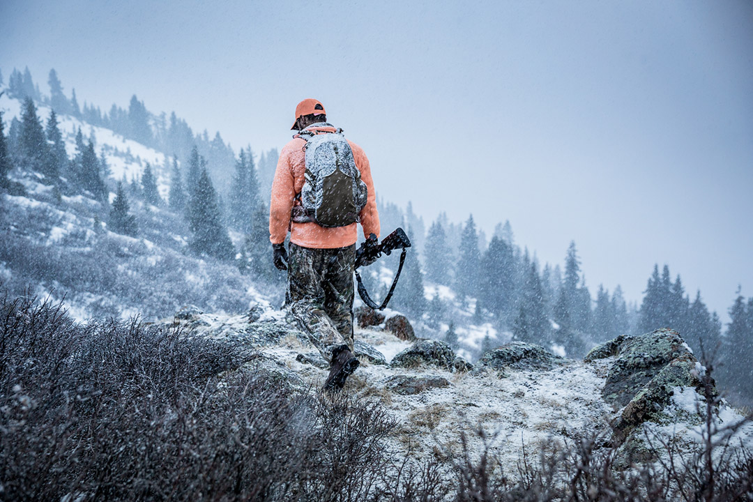 Hunting in the Rocky Moutains Favors the Prepared. This Photo Shows the Physical Challenge of Big Game Hunting in Rough Terrain.