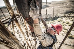 In this Professional Photoshoot for the Workboot Brand, Ariat, Workers are Photographed on Active Oil Rigs in Eastern Utah.