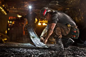 American Workers in a Coal Mine Near Somerset, Colorado. Creative Agency for Timberland Contracted Professional Photographer for Product Campaign.