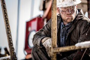 This Photo Captures the Rugged Hardworking Lifestyle of Heavy Industry and Extraction Industry Workers on a Drilling Rig in Colorado.