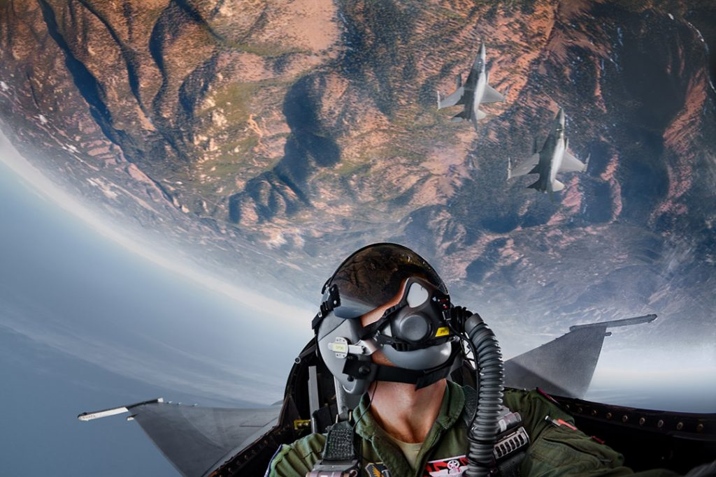 American Armed Forces Pilots, Like this One From and Airbase in Colorado Learn Technical Maneuvers Over the Mountains in Practice for Combat.