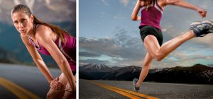 Female Long-Distance Runner is Photographed in the Rocky Mountains by Local Adventure Sports Photographer, Tyler Stableford as She Prepares for Marathon.