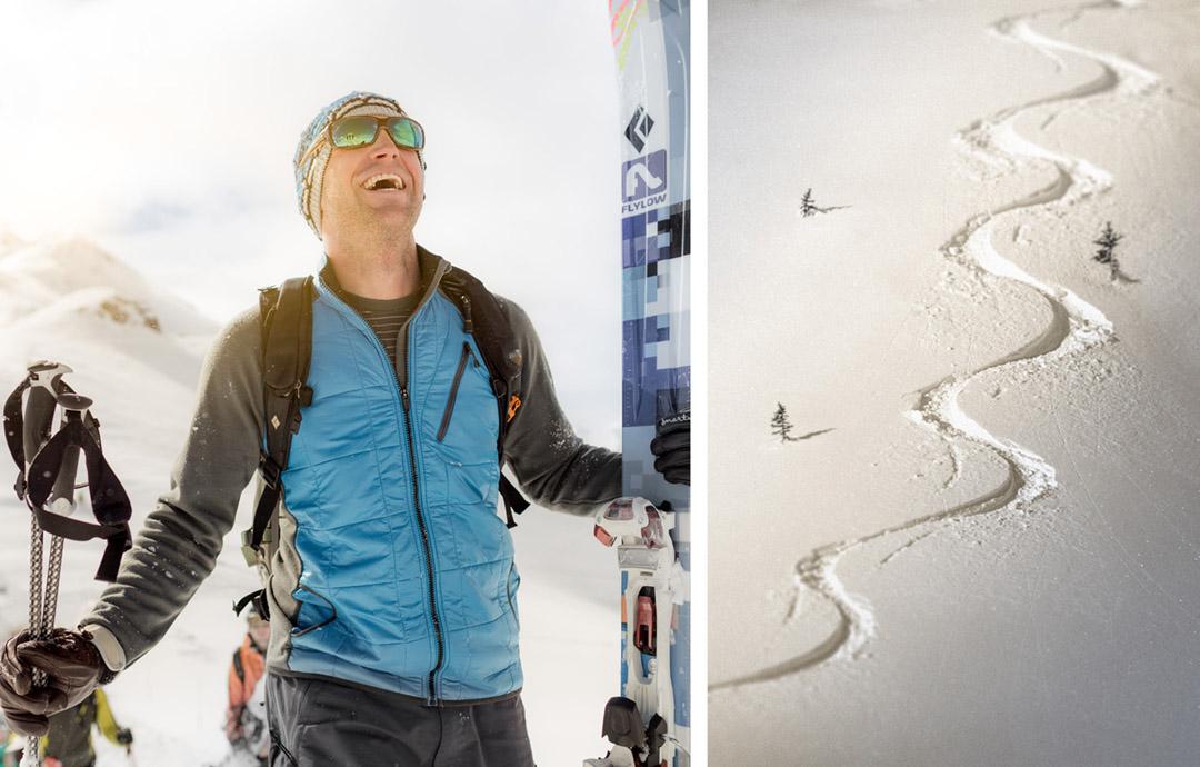 Photograph by Tyler Stableford Captures Joy of Alpine Skiing Near Aspen, Colorado on a Blue-bird Powder Day.