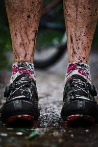 Sometimes, Shooting Adventure Athletes Can be A Little Messy. Tyler Stableford Snapped this Pic after Miles of Trail Running in the Mud.