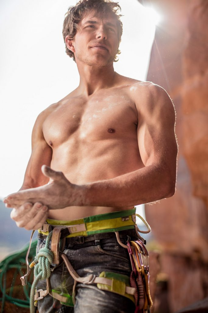 Rock Climbing is Physically and Mentally Grueling Sport. In this Portrait, Extreme Adventure Photographer, Tyler Stableford Shows a Moment of Peace.