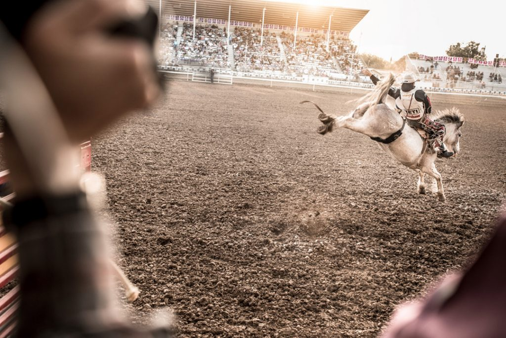 Wrangler Jeans Athlete At Red Bluff Rodeo in California