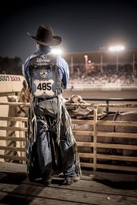 Rodeo Athlete Waits To Ride