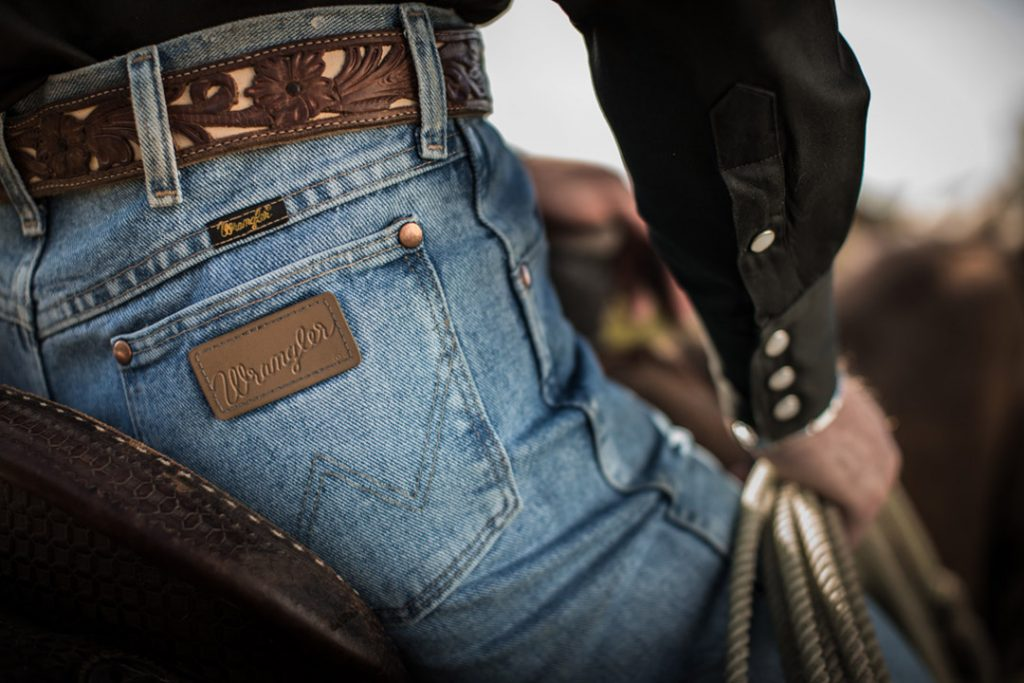 Patch of Wrangler Jeans