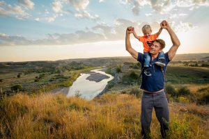 Josh Dhumael and His Son In North Dakota For Tourism Shoot With Director Tyler Stableford For North Dakota Advertising And