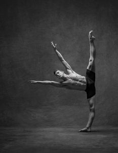 The Male Ballet Dancer in this Photograph Demonstrates His Incredible Balance and Flexibility.