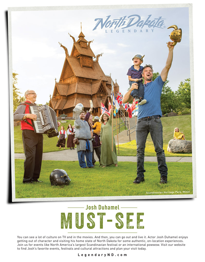 Josh Duhamel And His Son In Minot North Dakota For North Dakota Tourism Ad By Director Tyler Stableford.