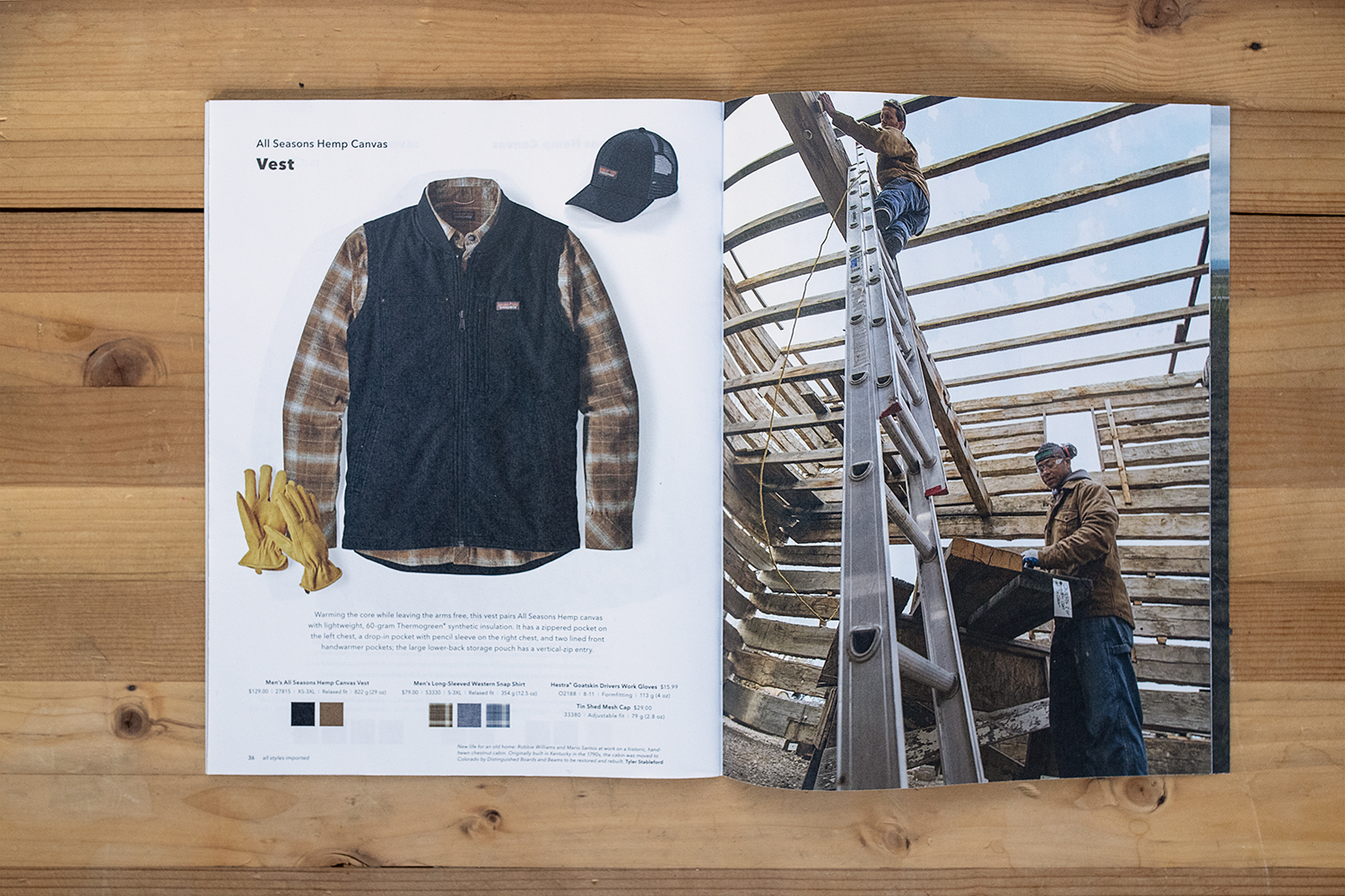 Stableford workwear image in Patagonia catalog