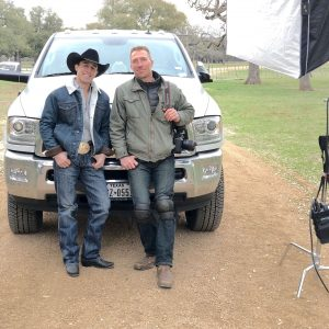 Tyler and Sage Kimzey on location in Austin
