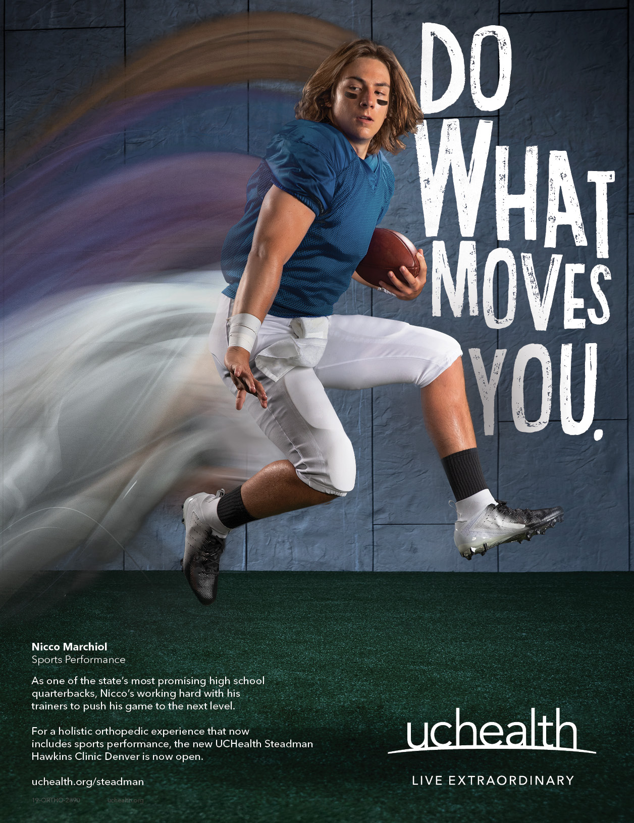 Do What Moves You | Ad for UCHealth with a jumping football player